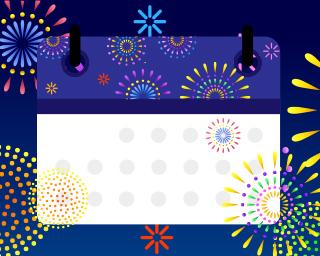 【花火カレンダー】日付を選んで、その日に開催される花火大会をチェックしよう!